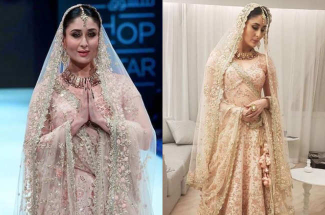 Kareena kapoor as white bride