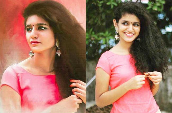 Priya Prakash Varrier in pink