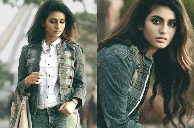 Priya Prakash Varrier photoshoot in denim