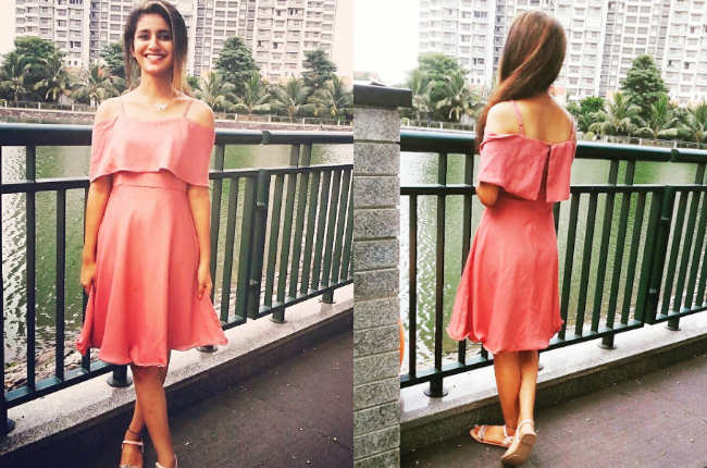Priya praskash varrier in pink dress