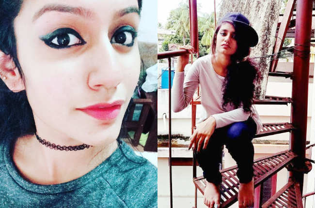 Priya Prakash Varrier eye makeup pics
