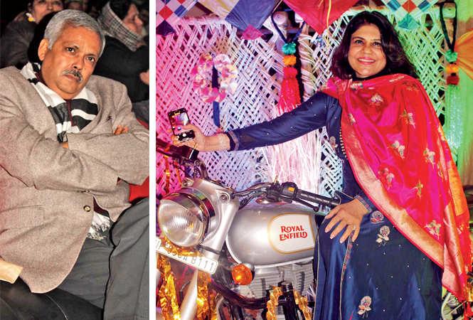 Yogeshwar Ram Mishra (R) Bharati Madhok (BCCL/ Arvind Kumar)
