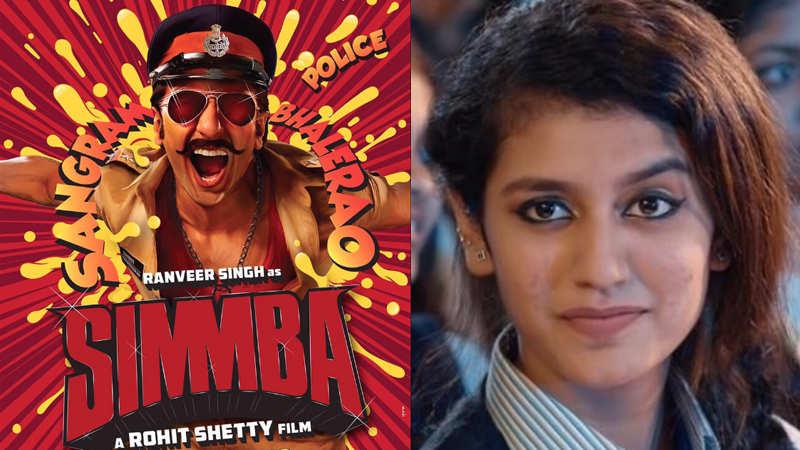 Priya Prakash Varrier to play female lead opposite Ranveer Singh in 'Simmba'?