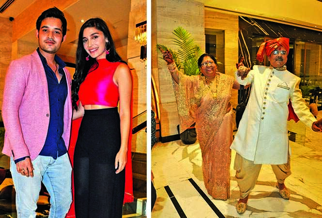 Shraman Jain and Helena and  Suman and RK Tiwari dancing at the venue (BCCL/ Pics: AS Rathor, IB Singh and Akash & Aman films)