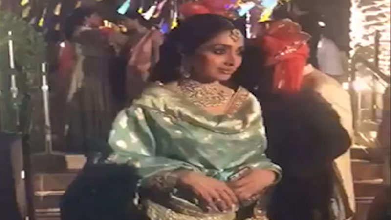 Watch: Last video of Bollywood actress Sridevi