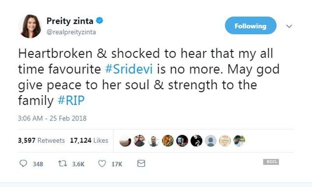 Celebs in solidarity over Sridevi's death