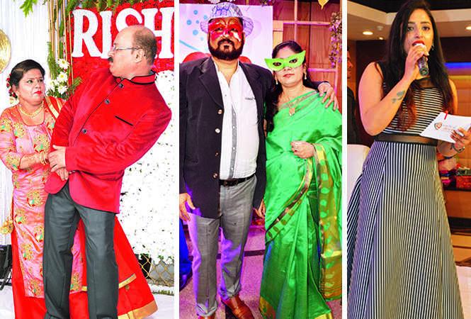 (L) Rishi Malhotra and Neeta (C) Shera and Hunny (R) Tanishka (BCCL/ AS Rathor)