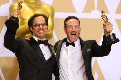 Dan Cogan (L) and Bryan Fogel