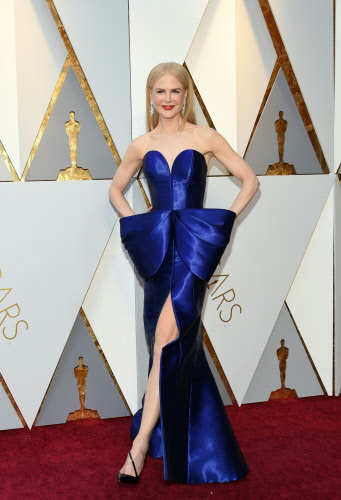 Nicole Kidman at the 90th Annual Academy Awards in Hollywood, California. Photo by AFP