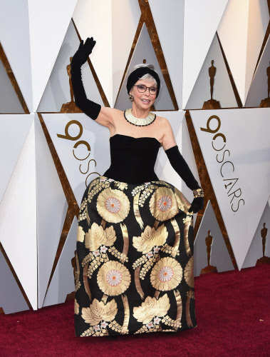 Rita Moreno at the Oscars at the Dolby Theatre in Los Angeles. Photo by Jordan Strauss/Invision/AP