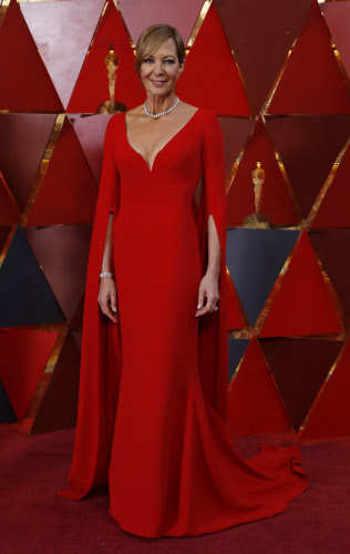 Allison Janney at the 90th Academy Awards. Photo by Reuters