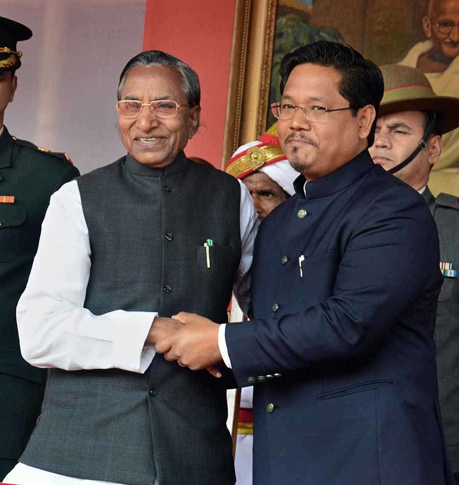 Conrad Sangma takes oath as Meghalaya CM