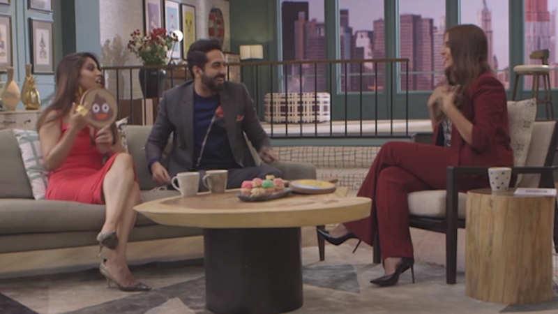Ayushmann Khurrana, Bhumi Pednekar have fun on a TV show