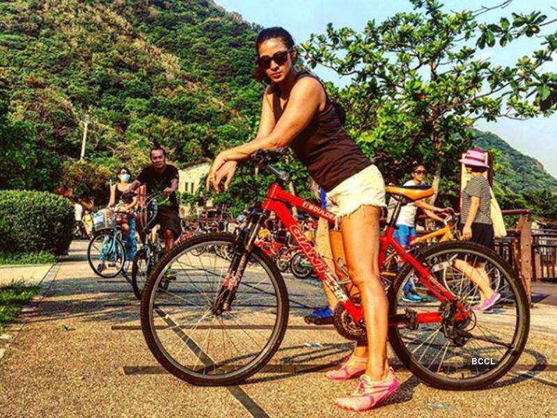 Barkha knows how to stay fit