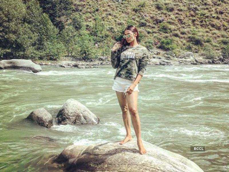 Barkha poses in the lap of nature