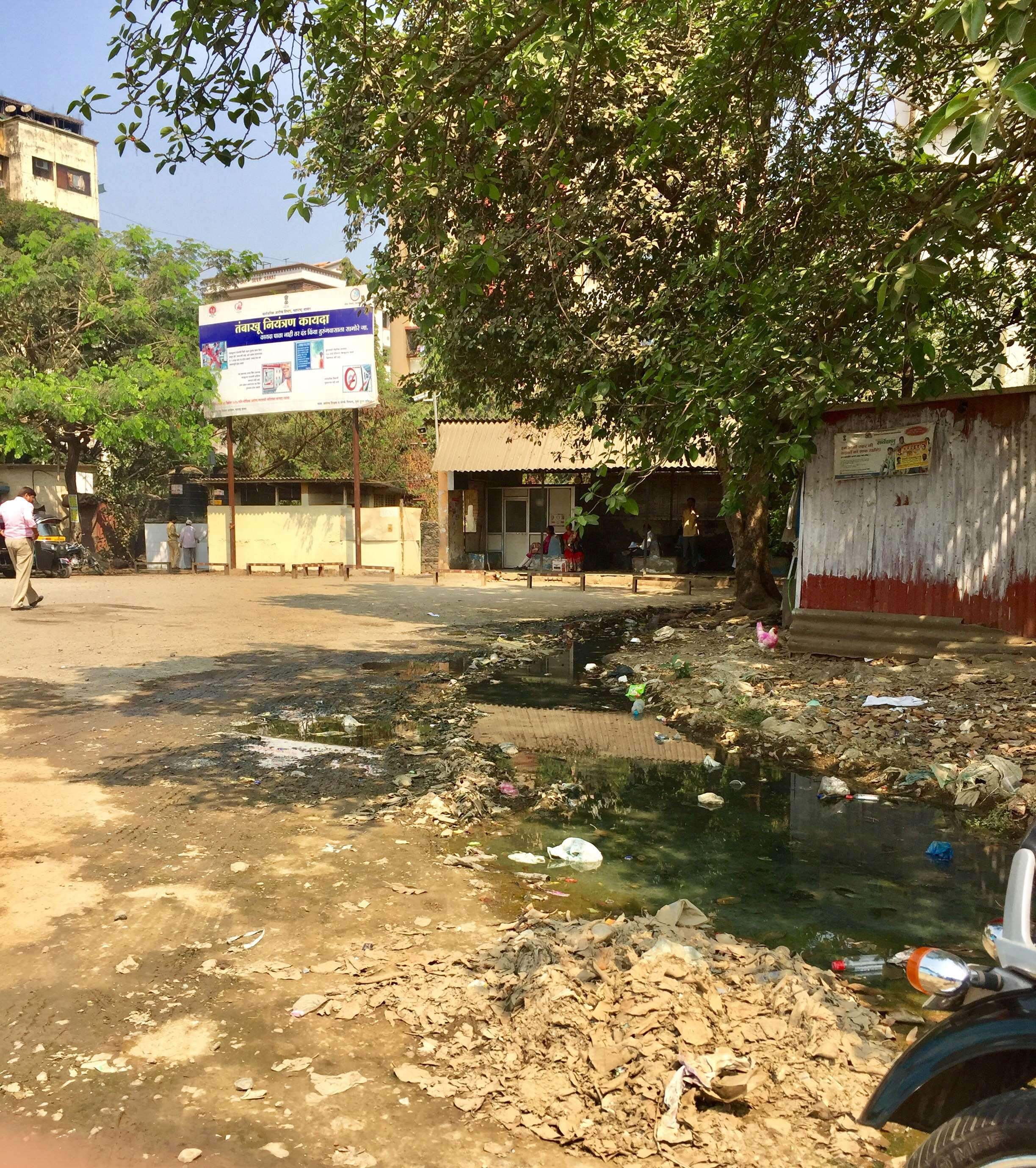Open Drainage inside Nancy Bus Stop - Times of India