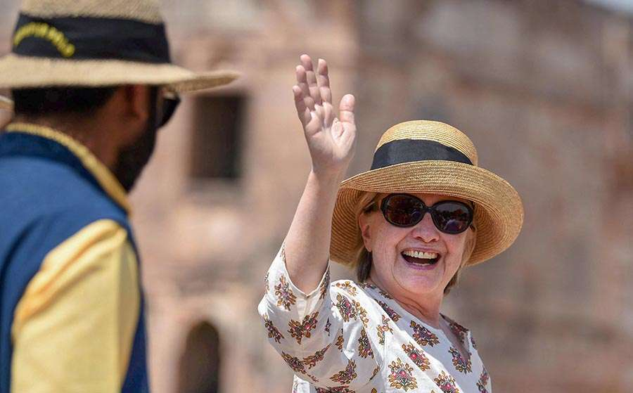 Hillary Clinton visits historical sites in Madhya Pradesh