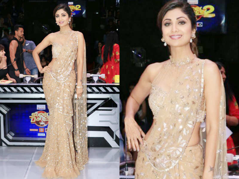 Shilpa Shetty\'s sari-gown is a must-have | The Times of India