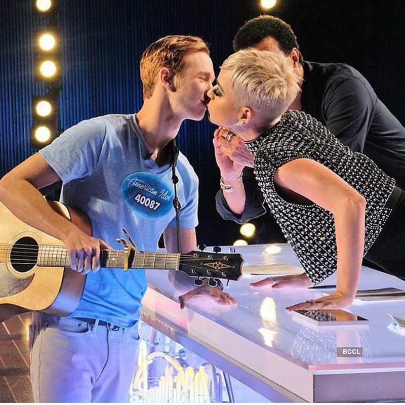 Twitterati slam Katy Perry for kissing teenager on American Idol