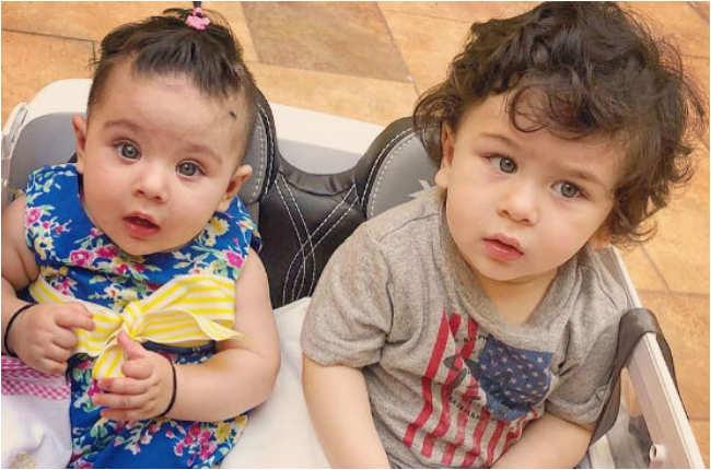 Taimur Ali Khan with cute little sister