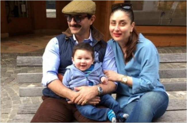 Taimur Ali Khan with family photos