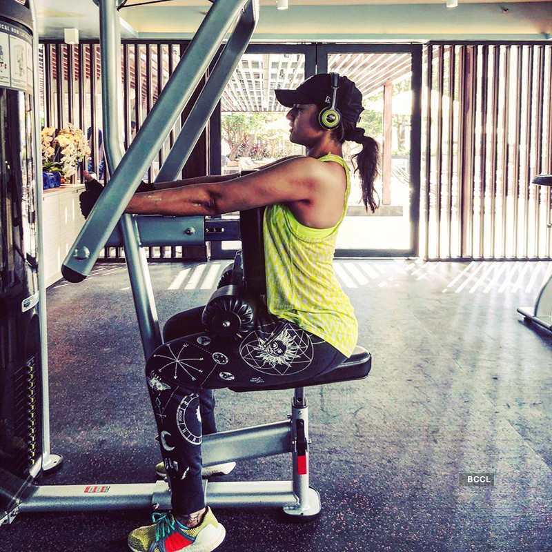 Sonakshi's workout photos