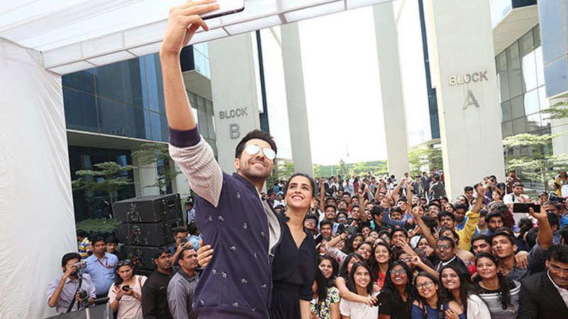 This is how Ayushmann Khurrana and Sanya Malhotra spent the day at Bennett University