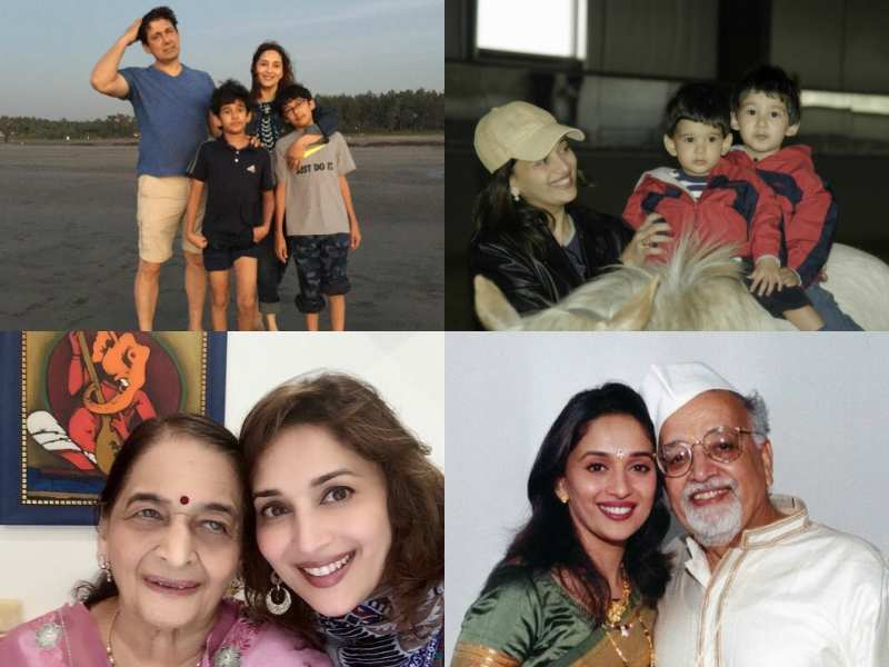 Madhuri Dixit Photos: Candid family pictures of the actress