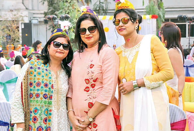 (L-R) Mansi, Bhawana Kalra and Sharda Vijay  (BCCL/  Unmesh Pandey)