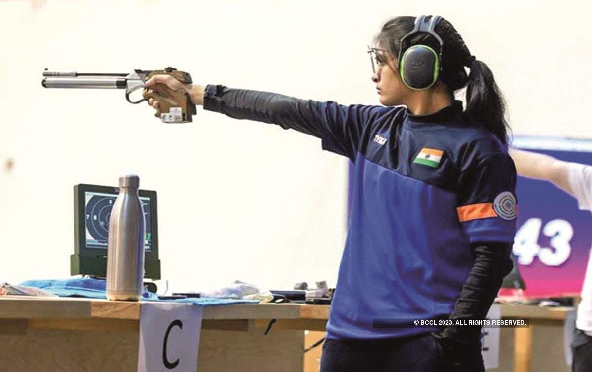 Manu Bhaker strikes gold at Shooting world cup