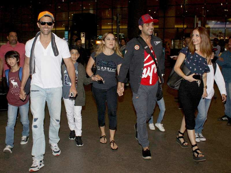 Hrithik Roshan Spotted At The Airport Returning From Goa With Ex