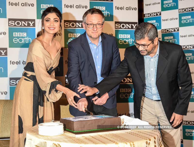 Shilpa Shetty attends the first anniversary celebrations of BBC Earth