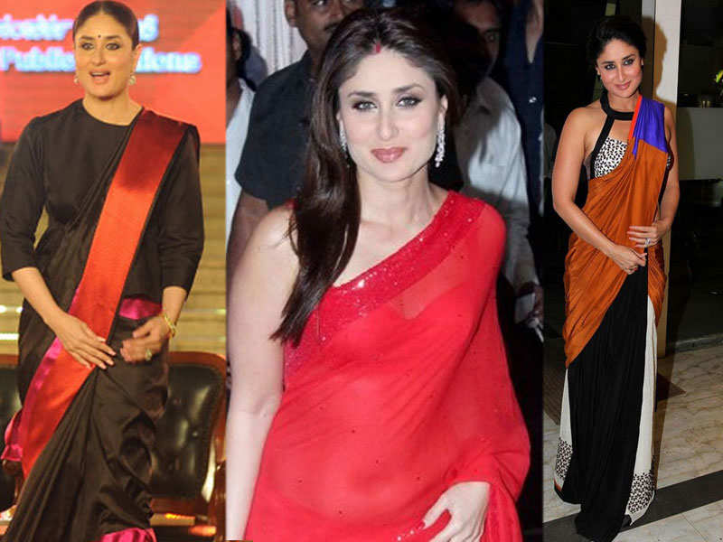 Kareena Kapoor Photos in Saree: Hot & Sexy Pictures of Bollywood