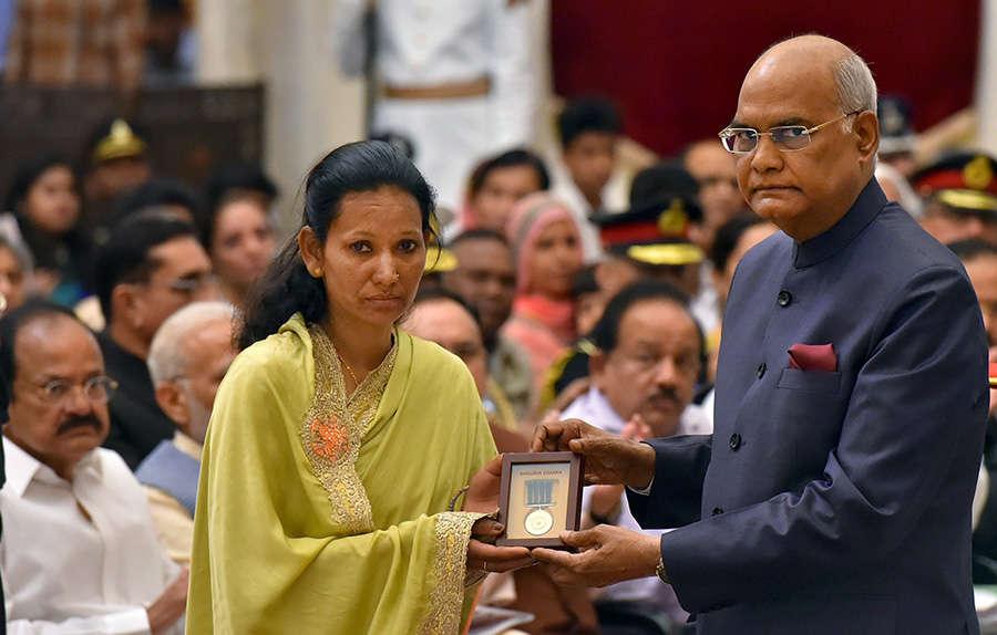 President Ram Nath Kovind presents Gallantry Awards