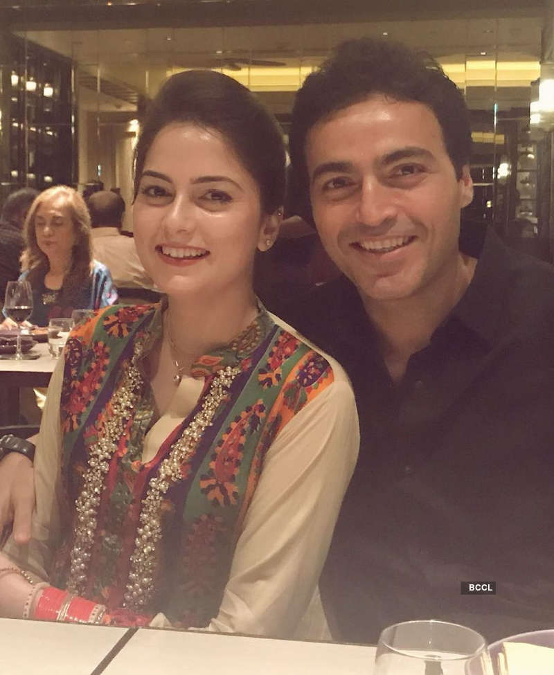 Ayaz Khan Khan with wife Amish