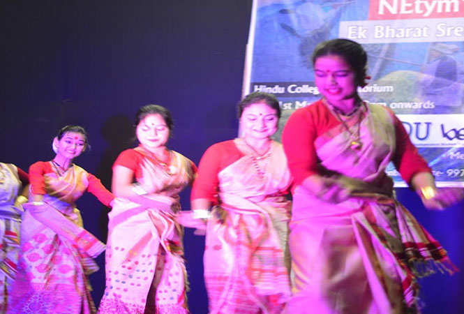 A performance by the students of the college