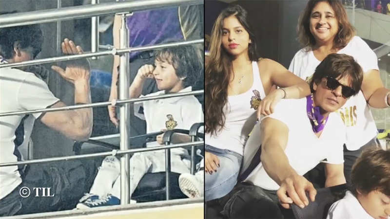 AbRam and Suhana accompany daddy Shah Rukh Khan for a cricket match