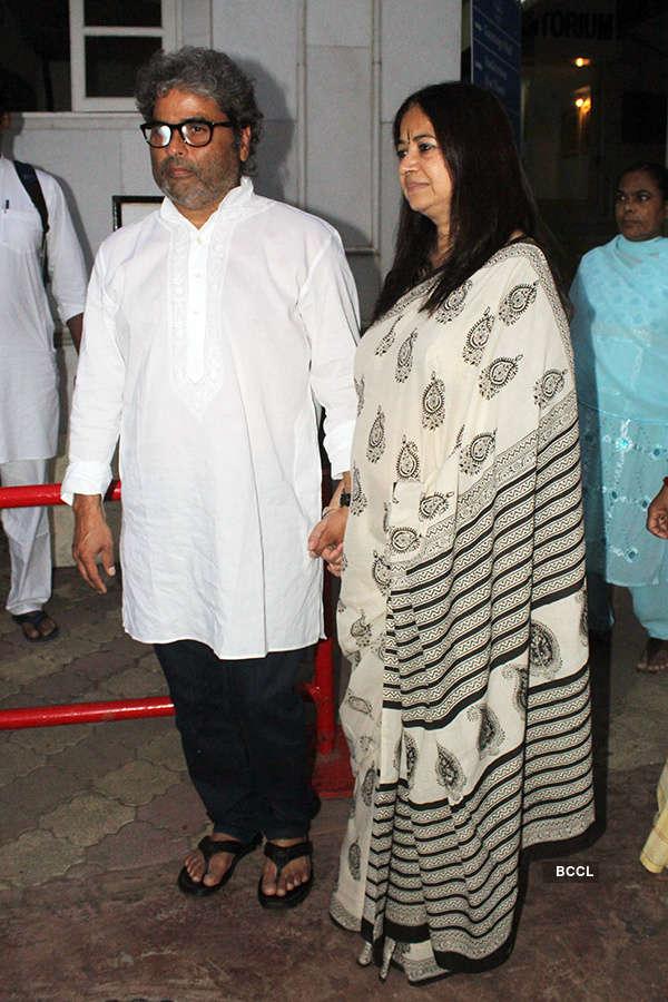 Bollywood celebrities attend Vishal Bhardwaj's mother's prayer meet
