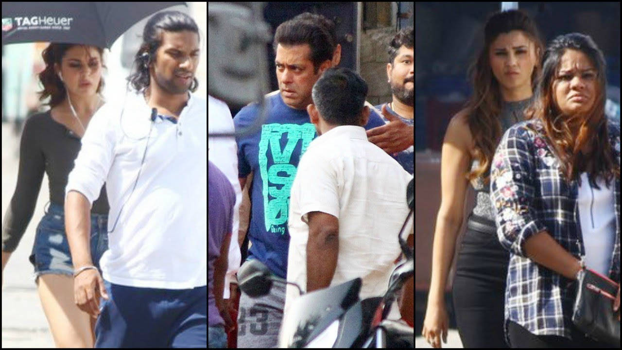 Salman Khan, Jacqueline Fernandez and Daisy Shah snapped on the sets of 'Race 3'