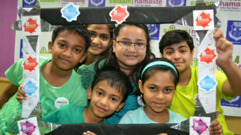Radio skit by Noida kids on how to stay healthy