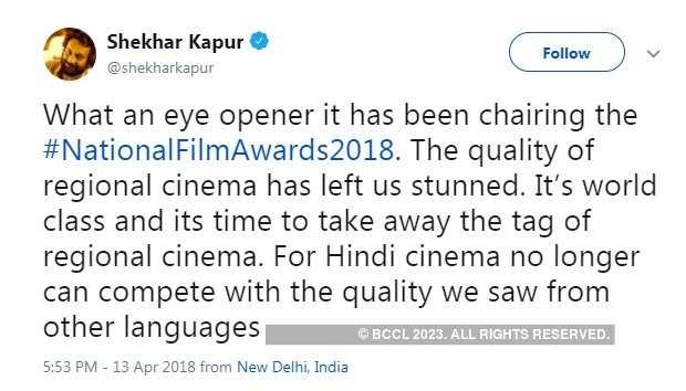 The post shared by Shekhar Kapur on his social media account
