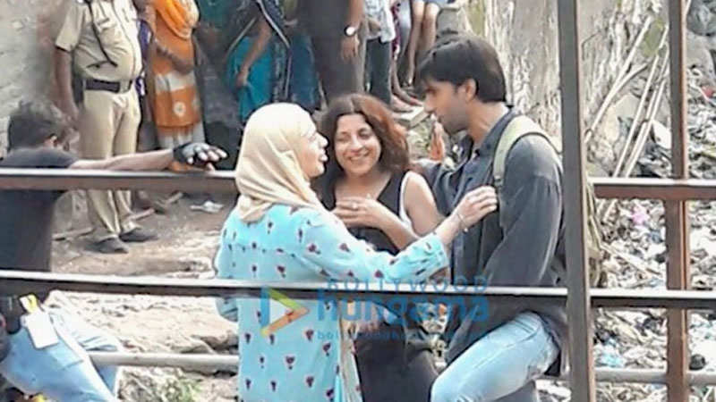 Alia Bhatt, Ranveer Singh shoot for 'Gully Boy' at a railway station