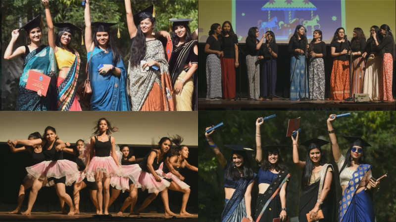 Gargi College girls enjoy a feisty farewell
