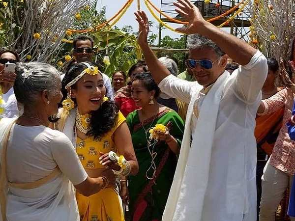 Milind Soman and Ankita Konwar Marriage in Alibaug