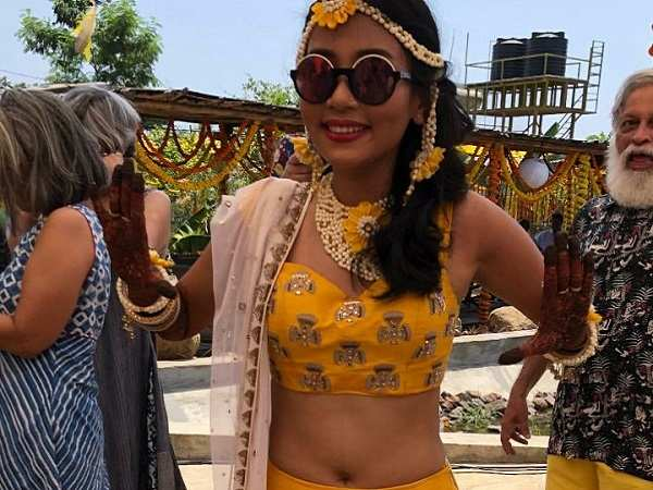 Ankita Konwar Cute Photo From Her Wedding