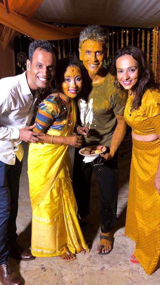 Milind Soman and Ankita Konwar Marriage Video