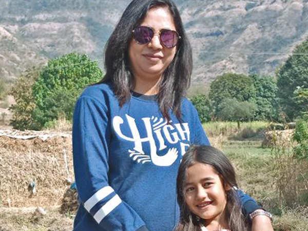 Akriti Sharma with her mother Dimple Sharma