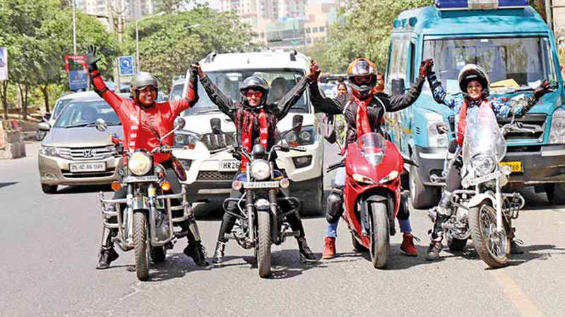 Women bikers lead this car rally in Gurgaon