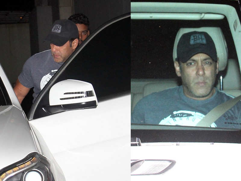Photos: Salman Khan snapped post visit to Ramesh Taurani's office - Bollywood celebs spotted around town  | The Times of India