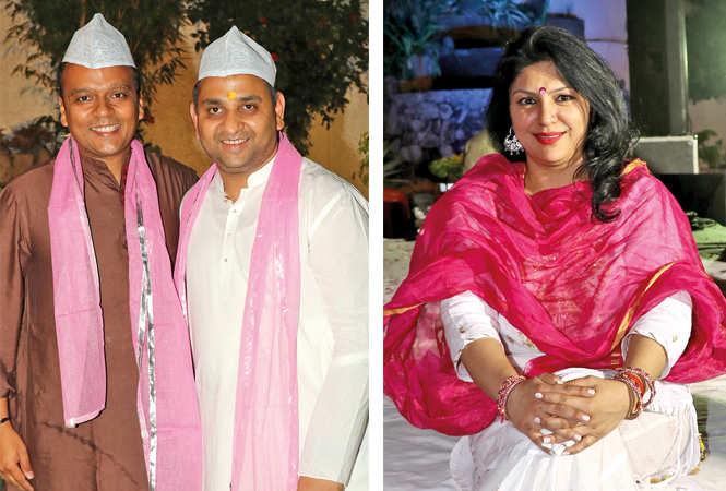 Saurabh Shah and Siddharth Gupta (R) Shonool Malik (BCCL/ Unmesh Pandey)